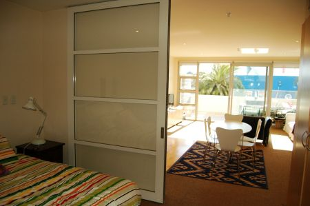 Modern interior of an apartment at 269 Wakefield Quay, Nelson.